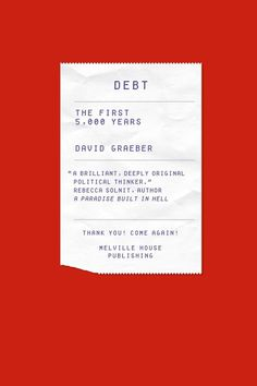 Debt by David Graeber #cover #book