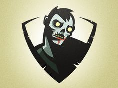 Zombie #badge #vector #design #zombie #character