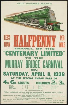 All sizes | Less than halfpenny per mile. | Flickr - Photo Sharing! #train #30s #poster