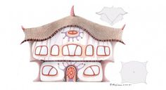 Architecture plans with a drawing surrealistic style