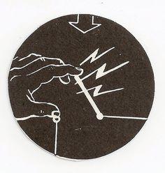 finger electricity #instruction #& #white #black