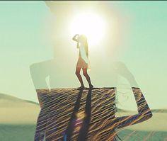 double exposure love #sun #land #dunes #sugar #fade #image #landscape #photography #sand