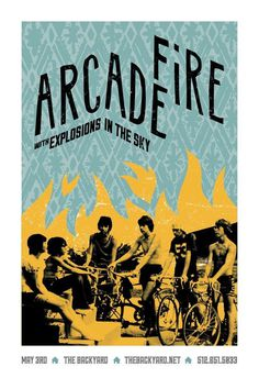arcade fire music gig posters | series of gig posters created for the Arcade Fire's the Suburbs tour ... #poster #gig poster #arcade fire