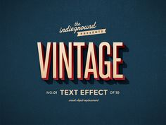 Retro/Vintage Text Effects #type #old #vintage #shadow