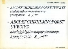 Daily Type Specimen | Century Expanded was Morris Fuller Benton's... #type #specimen #typography