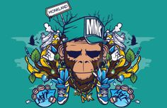 Graphic Design & Web Design Blog #illustrations #monkey