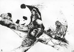 Inside Out › Illusion – The Most Amazing Creations in Art, Photography, Design, and Video. #prades #panda #drawing #simon #illustration #powerful #pen #politics #animal