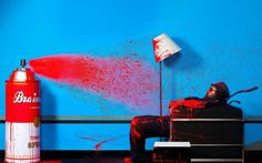 Mr. Brainwash Portraits by Gavin Bond - JOQUZ #red #mrbrainwash #art #blue #artist