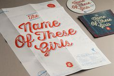 thenameofthesegirls #album #print #promotional #music #cd