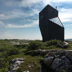 Dezeen » Blog Archive » Tower Studio by Saunders Architecture #sculpture #black #glass #wood #architecture #tower