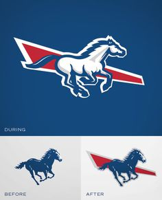 personal, logo, horse, sports, team, rebrand, private school, broncos