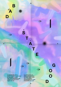 Bad State / Good State #graphic design #typography #poster #artwork #color