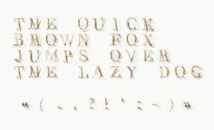 Designer Forges a Typeface from Toothpicks - DesignTAXI.com #haldemann #type #swiss #jerome