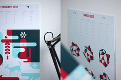 Gifted Calendar 2012 - Atelier 1A - Online, offline & everything in-between. #print #calendar