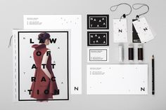Fluid Identity: Evan Dorlot July 19, 2013 A very thoughtful and interesting identiy by French designer Evan Dorlot, for young fashion desig #branding #design #graphic #identity #fashion #attraction #typography