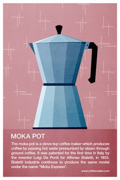 Moka pot #coffee #illustration #poster #moka