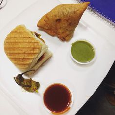 #FoodGoodseries #indian snack #samosa #sauce #snacks time # top view