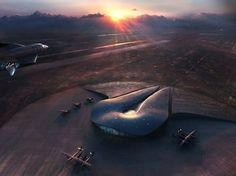 Spaceport America by Foster + Partners | 123 Inspiration #spaceport #mexico #foster #+ #america #partners #desert #new