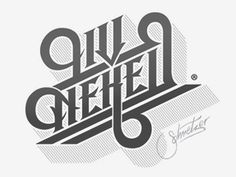 Dribbble - Liv Neked by Martin Schmetzer #logotype #font #custom #typography