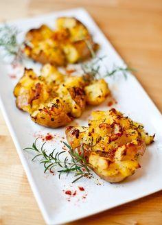 vegan foody • Baked Smashed Potatoes #potato