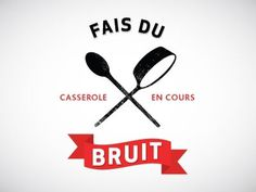 Dribbble - Fais Du Bruit by Tanya Duffy #protest #montreal #illustration #logo #typography
