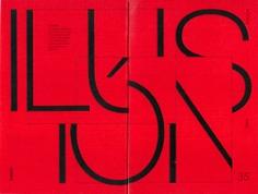 editorial illusion modernism Shigeo Fukuda typography