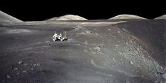 Apollo 17 at Shorty Crater #17 #nasa #apollo #moon