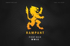 Rampant Pinot Noir on the Behance Network #logo #emblem