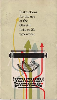 Olivetti Typewriter Manual | Retronaut #olivetti #typewriter #manual