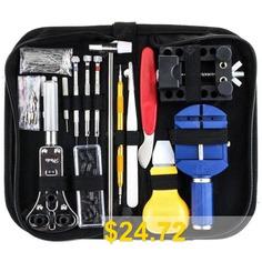 Watch #Repair #Case #Opener #Tool #Set #- #BLACK