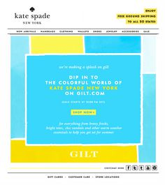 Dip in Kate Spade #design #kate #mailer #newsletter #dip #emailer #subscribe #kate spade