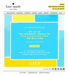 Dip in Kate Spade #subscribe #design #emailer #spade #dip #kate #mailer #newsletter