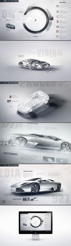 GI: Lamborghini Lineage / Interactive Concept Design for Automobili Lamborghini. A gestural touch screen interface invites enthusiasts to ex #site #auto