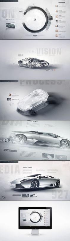 GI: Lamborghini Lineage / Interactive Concept Design for Automobili Lamborghini. A gestural touch screen interface invites enthusiasts to ex #site #auto
