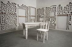 Scott Carters Sculptural Medium: Deconstructed Gallery Walls #interior #design #sculpture #art