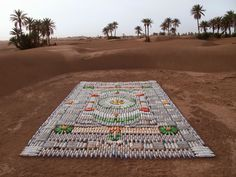 Temporary Contemporary Carpets from Everyday Objects