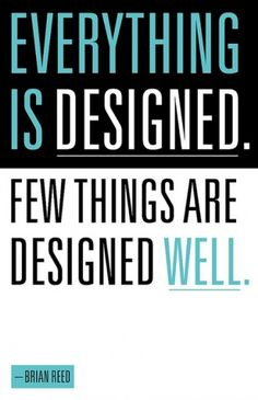 EVERYTHING IS DESIGNED #cyan #design #graphic #des #black #blue #typography