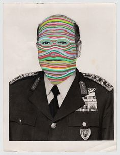DOMAINS : LUIS DOURADO #cut #dourado #luis #design #graphic #color #portrait #men #collage