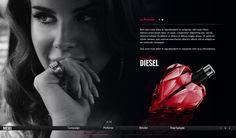 Website - DarkParadise / Diesel #del #lana #rey #paradise #perfume #webdesign #dark