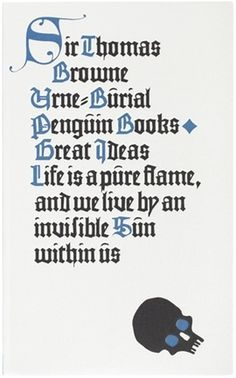 The Book Cover Archive: Urne-Burial, design by David Pearson #typography #book cover #penguin