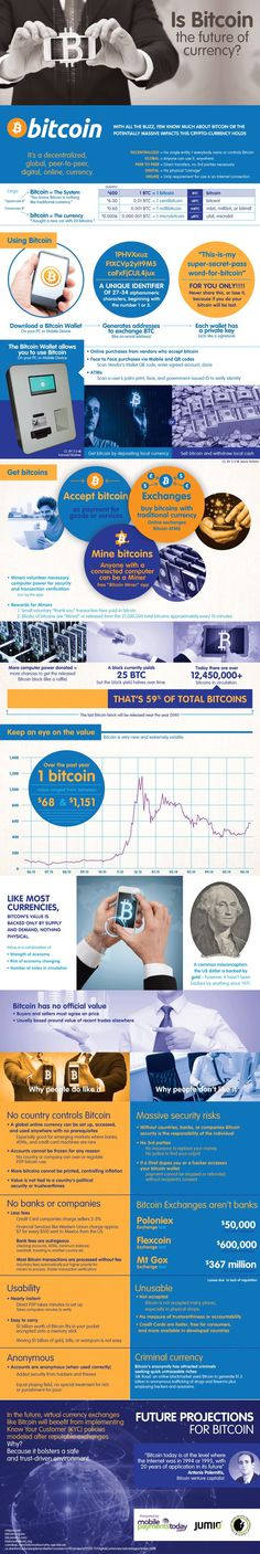 Is bitcoin the future of currency? Do you have bitcoins in your wallet? Check out this infographic for all you need to know. #bitcoin #infographic #virtual #currency