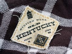 Old Kentucky #logo #appareltag #branding #typography