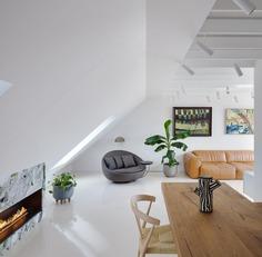Top-Floor White Duplex