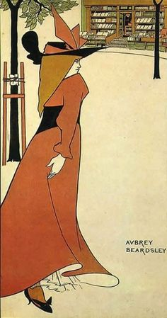 aubrey-beardsley.jpg 568×1,080 pixels #print #retro #arts #illustration #painting #fine