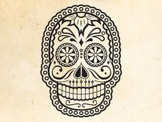 Illustration by Meric Karabulut - muertos #illustration #skull