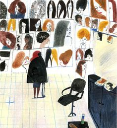 Laura Carlin #haircut #hairdresser #illustration #posters