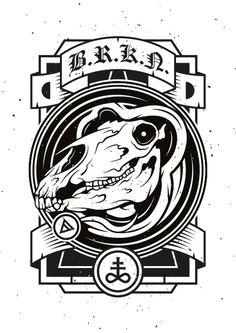 BROKEN #endordesigns #illustration #occult #screenprint #darkerhalf #darkerhalfcult