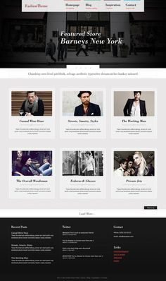 Fashion Wordpress Theme #design #photography #fashion #layout #web