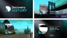 TV branding Discovery History on Behance #branding