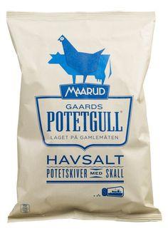Potetgull #packaging #chips